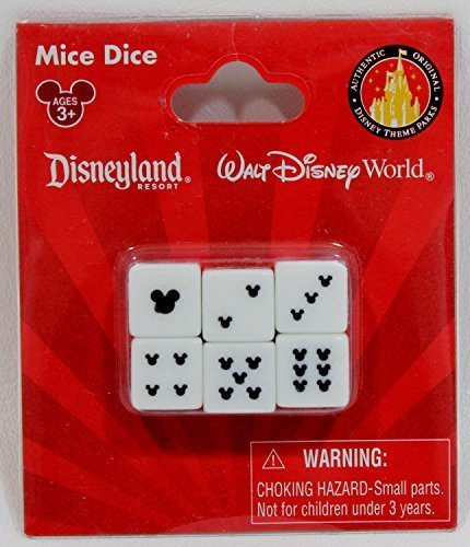Disney Parks Mickey Mouse Dice Set (6 (Mouse Dice)