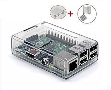 Caja de montaje de la marca UTRO para Raspberry Pi 3 modelo B + juego de 2 disipadores de aluminio (Raspberry Pi 3 modelo B no incluido): Amazon.es: Electrónica