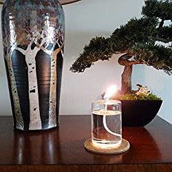 Firefly 4-Inch Refillable Glass Pillar Candle for