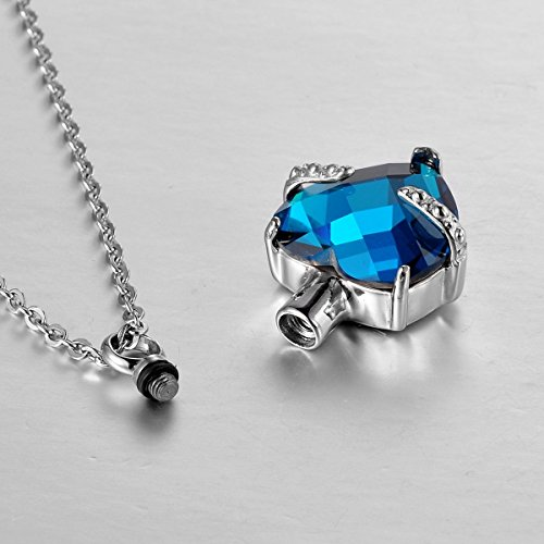 VALYRIA-Memorial-Diamond-Heart-Cremation-Urn-Pendant-Keepsake-Ashes-NecklaceBlue
