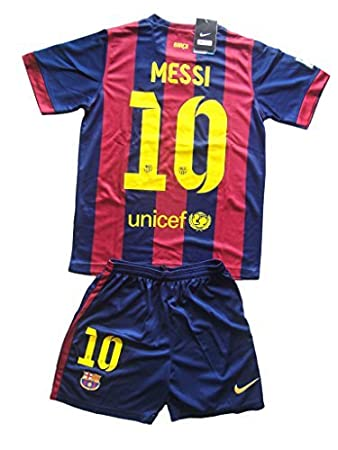 official photos 1c849 f8269 Amazon.com : Messi #10 FC Barcelona Youths Home Kit Shirt ...