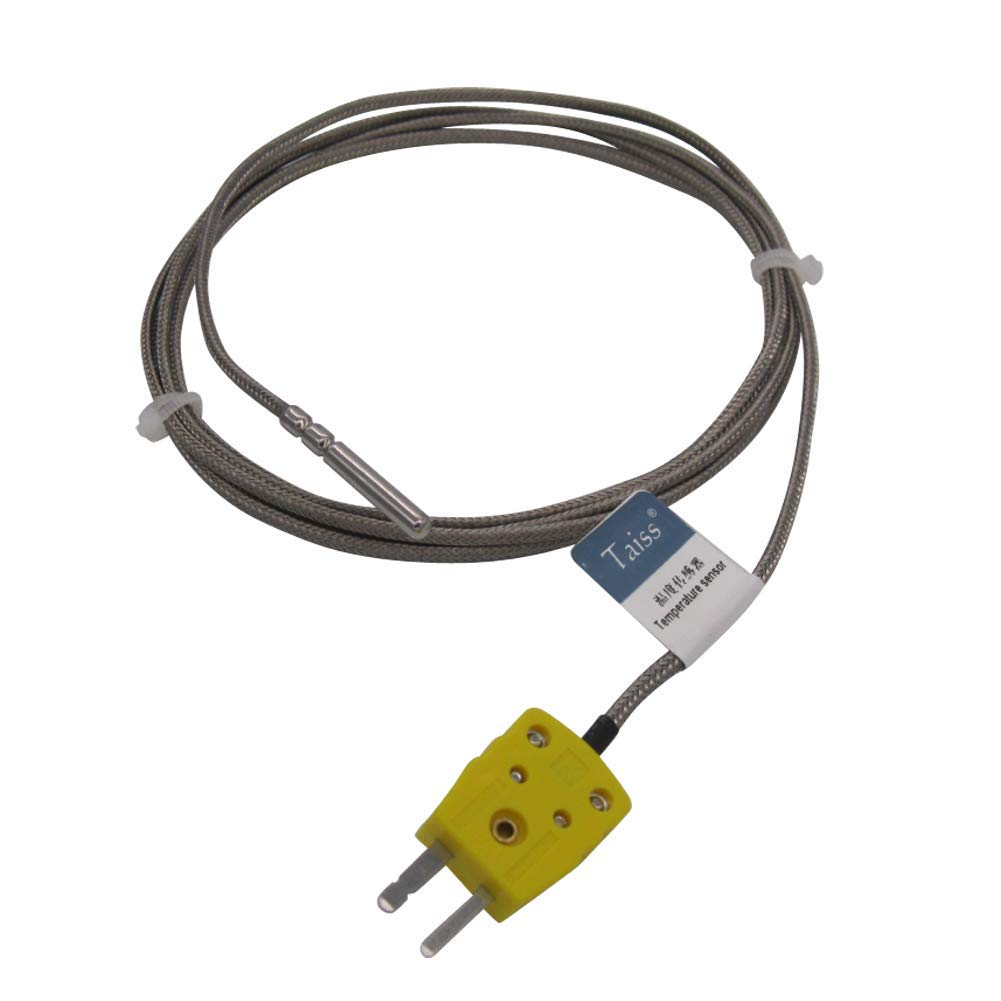Waterproof K-Type Sensor Probes Metal HeadProbe for K-Type Probe Thermocouple Sensor /& Meter Temperature Controller 50 to 200 /°C TA-6340-W Long Probe 30MM Temperature Range from