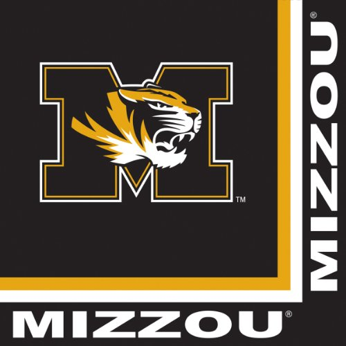 Creative Converting Missouri Tigers Lunch Napkins, 20-Count (College Football Costumes Halloween)