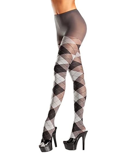 8f2ad9af059 Amazon.com  Be Wicked Women s plus-size Queen Size Argyle Tights D ...