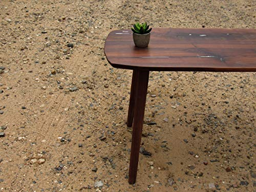 Walnut Coffee Table with White accent resin. Minimalist Simple Walnut Coffee Table