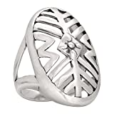 Silpada Sterling Silver 'Cut-Out Ring', Size 5