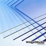 """PETG Thermoform Plastic Sheets 0.020"""" x 12"""" x 12"""" Sheets - 12 Piece Bundle"""