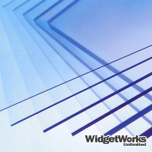 Polycarbonate Thermoform Plastic Sheets 0.010'' x 24'' x 24'' Sheets - 2 Piece Bundle