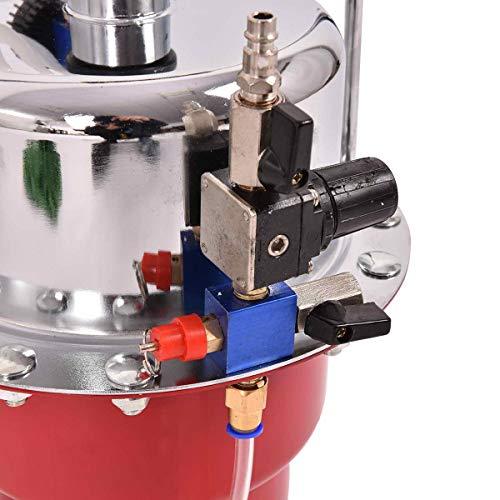 Goplus Pneumatic Air Pressure Brake Bleeding Kit Garage Workshop Mechanics Brake Oil and Fluid Extractor Bleeder Tool w/Case (Red) by Goplus (Image #5)