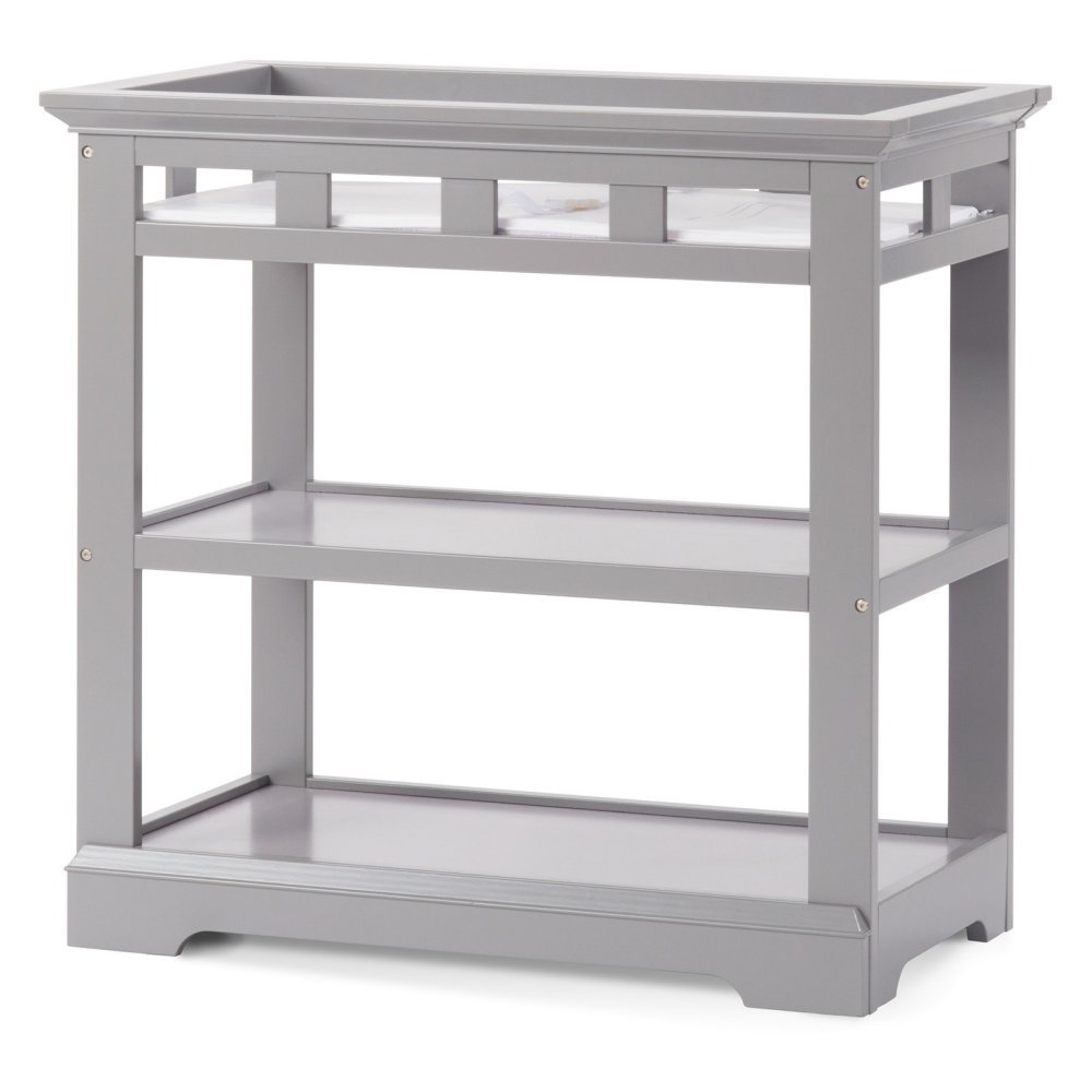 Child Craft Kayden Infant Changing Table with Pad, Cool Gray