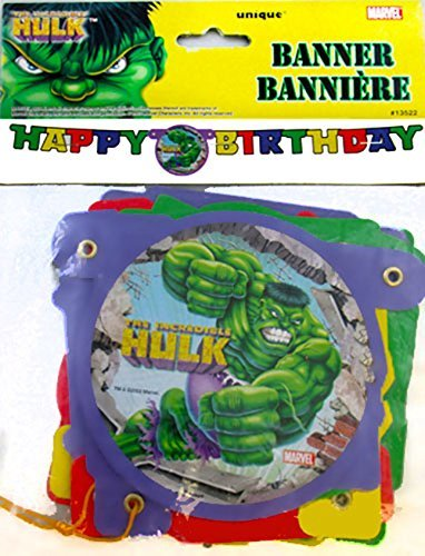 Incredible Hulk Animated Happy Birthday Banner (1ct) - Animated Birthday Party