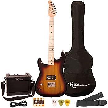 Rise by Sawtooth ST-RISE-ST-LH-SB-KIT-1 Electric Guitar Pack, Left Handed, Sunburst