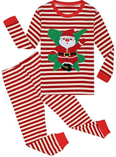 Tkala Fashion Girls Pajamas Children Clothes Sets 100% Cotton Little Kids Pjs Sleepwear (2-Christmas, 2 Years/US 2T)