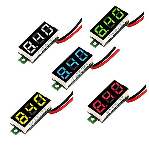 MCIGICM Voltage Tester, 2.5V-30V Mini Digital DC Voltmeter with 0.28 inch LED Display (5 - Voltage Display