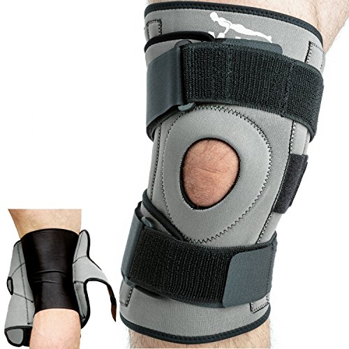 Mava Knee Brace for Joint Pain & Arthritis Relief – Meniscus, ACL, Tendonitis Support - Open Patella Stabilizer with Compression Knee Sleeve & Adjustable Strapping (Grey, Medium)