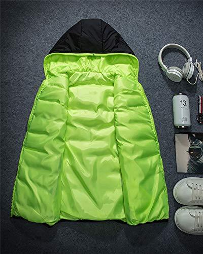 Bodywarmer Gilet Giubbino Cappuccio Gilets Giacca Maniche Con Casual Verde Smanicato Liangzhu Nero Uomo Senza 6BnfqWaBHw