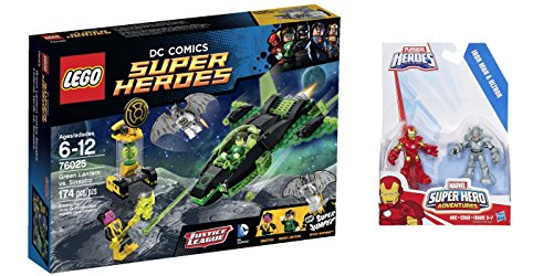LEGO Super Heroes Green Lantern vs. Sinestro 174 Pcs & free Gifts Super Hero Adventures Iron Man and Ultron Figures (Colors may vary) Toys (Lego Green Lantern Figure compare prices)