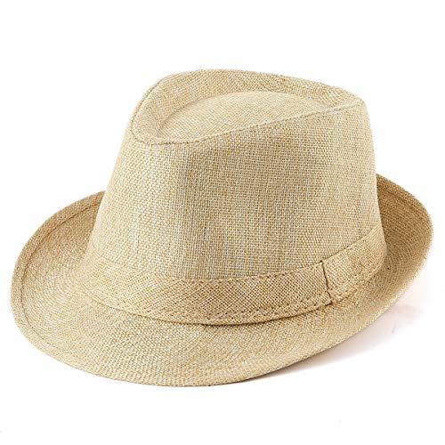 Women Straw Hats for Men - Yellow Hat 1920s Mens Hat Fedora Hats for Men Sun Hat