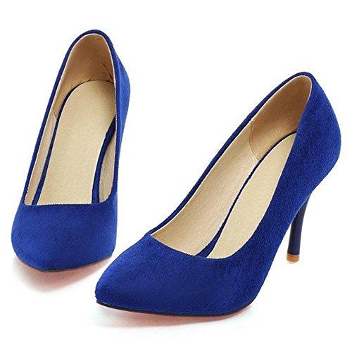 TAOFFEN Women's Elegant Stiletto Court Shoes Blue-13 jWFlZn3J