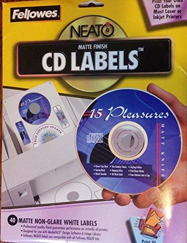 FEL99941 - Fellowes NEATO CD/DVD Laser/Inkjet Labels - Fellowes Cd Labels