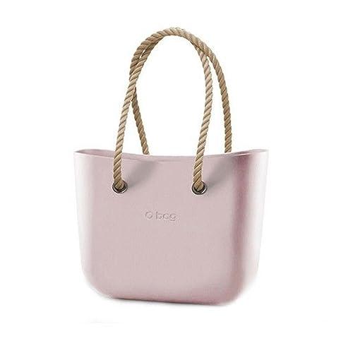 OBAG Bolsa O Bag Gran polvos con bolsa interna y Mango Largo de cuerda Beige New