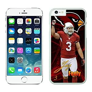 NFL iPhone 6 Plus 5.5 Inches Case Arizona Cardinals Jay Feely White iPhone 6 Plus Cell Phone Case ONXTWKHB0058