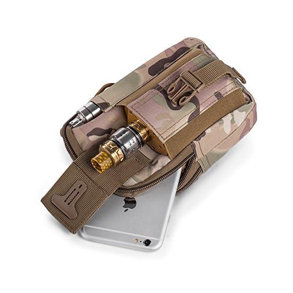 51EaFFjpckL Ecigdiy Tactical Molle Tasche Kompakte EDC Mehrzweck-Dienstprogramm Gadget Gürtel Gürteltasche mit Handyholster für…