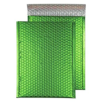 Image of Blake Padded Bubble Mailer, 8 1/2 x 12 Inches, Protective Envelopes, Avocado Green, Peel & Seal (MTGRE305-76) - Pack of 100 Envelope Mailers