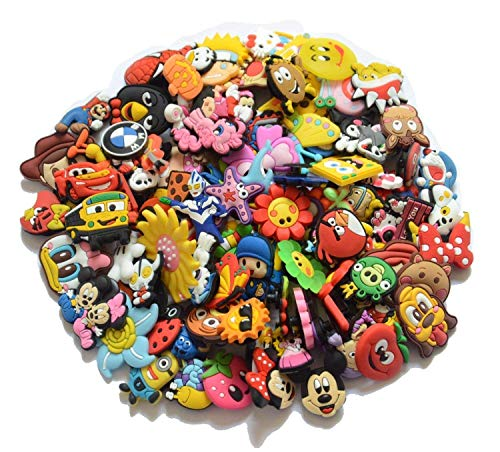 (YaqinZ 100pcs/lot Various Styles Random Shoe Charms For Jibbitz croc shoes & Bracelet)