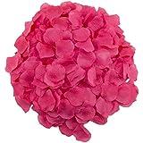 adorox 1000pcs rose petals artificial flower wedding party vase decor bridal shower favor confetti fuchsia
