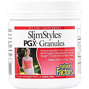 Natural Factors - SlimStyles PGX Granules, 100% Pure PGX, Promotes a Normalized Appetite and Feeling of Fullness, 30 Servings (5.3 oz)