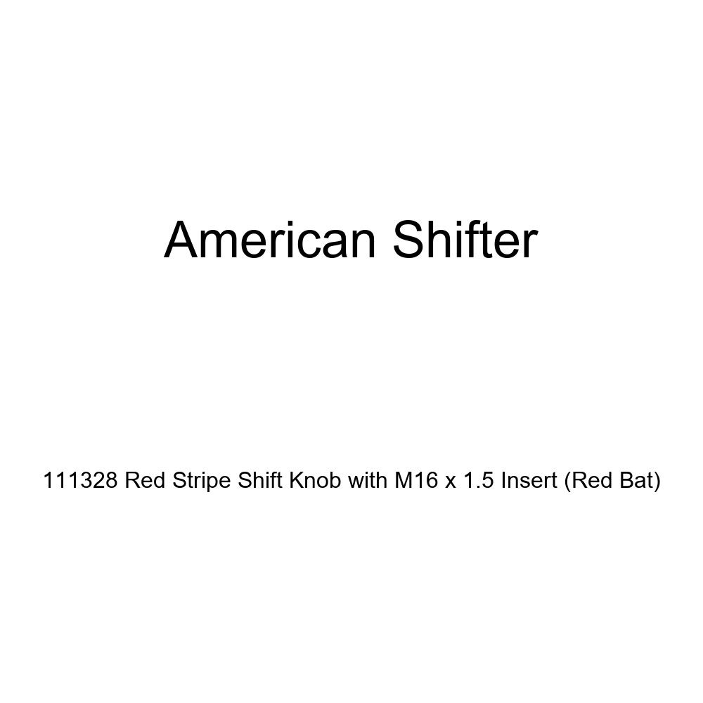 Red Bat American Shifter 111328 Red Stripe Shift Knob with M16 x 1.5 Insert
