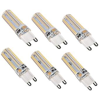 Cite Lighting G9 Led Bulb Bi Pin Base 110 130v Ac Warm White 3000k 3 6 Watt 104 3014 Smd Not Dimmable Pack Of 6