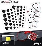 MyCamShield | Black (Matte) | 52 Vinyl Webcam/Camera Covers | Removable/Reusable | for Laptops, Desktops, Smartphones, Tablets, Smart TVs, Smart Home Devices | Includes 4 Lens/Screen Cleaning Wipes
