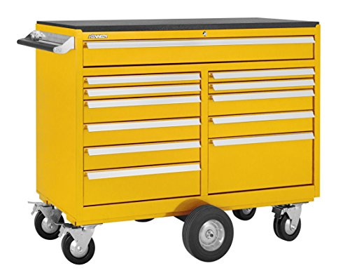 Kennedy Manufacturing 5300MPYW 53'' 12-Drawer Maintenance Pro Double-Bank Roller Cabinet, Industrial Yellow by Kennedy Manufacturing
