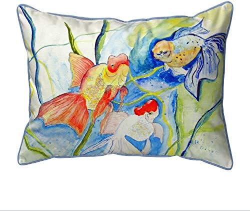 Betsy Drake Fantail Goldfish Extra Large 20 X 24 Indoor/Outdoor Pillow