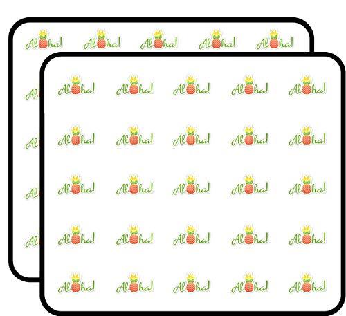 - Aloha Pineapple Cute Hawaii Sticker for Scrapbooking, Calendars, Arts, Kids DIY Crafts, Album, Bullet Journals 50 Pack