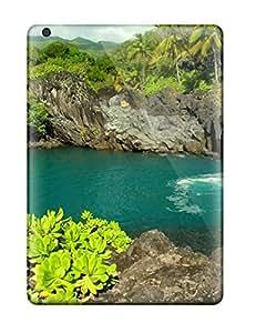 Ipad Air RuflsAb10004ATUxV Bali Tropical Beach Desktop Tpu Silicone Gel Case Cover. Fits Ipad Air