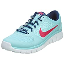 Girl's Nike Flex Run 2015 Running Shoe (GS) Copa/Insignia Blue/White/Vivid Pink Size 7 M US