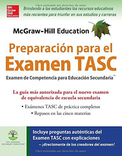 McGraw-Hill Education Preparaci?de?ed???n para el Examen TASC (Spanish Edition) by Kathy A. Zahler (2016-04-18)