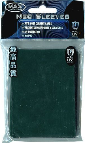 Max Protection Flat Standard Gaming Card Sleeves, Flat Emerald Green, 50 Count ()