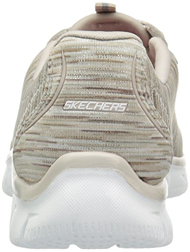 Empire Women's Fashion Knit Sneaker Skechers Sport Taupe 0SqzE