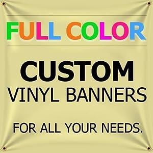 Amazoncom Custom Vinyl Business Banner Full Color Banner Company - Vinyl business banners