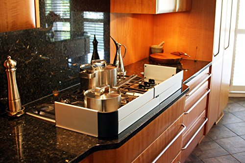 QDOS Adhesive Aluminum Stove Guard - Complements Modern Kitchen Designs - Fits Cooktops & Most Freestanding Stoves - Protects from Front & Sides - Easy to Install - Quick Removal for Cleaning by Qdos Safety (Image #2)