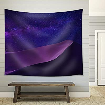 Man Looking Milky Way in Desert Fabric Wall, With Expert Quality, Alluring Craft