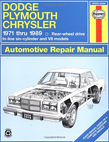 Dodge/Plymouth/Chrysler Fullsize (rwd)  '71'89 (Haynes Repair Manuals)