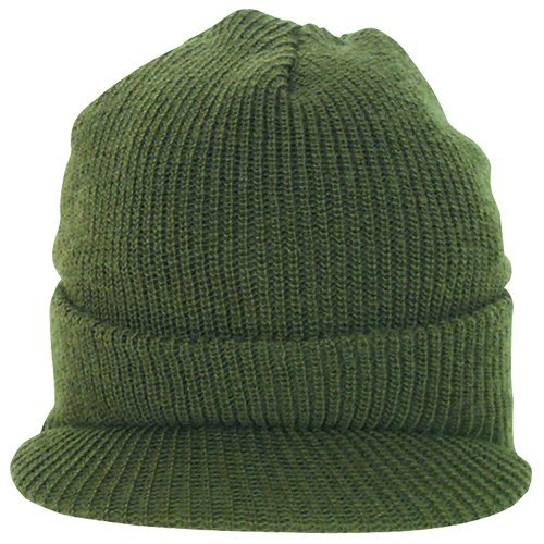 Usa Wool Jeep Cap - Fox Outdoor Products GI Wool Jeep Cap, Olive Drab