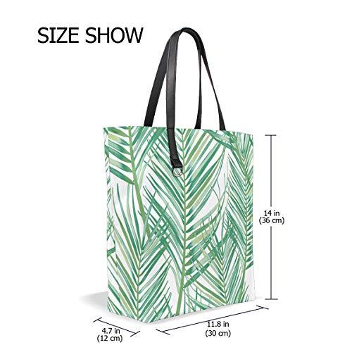 001 Bennigiry Femme Tote Sac Pour Trees Taille Unique Porter Green Leaves À L'épaule Jungle 5wZwn