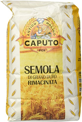 Molino Antimo Semolina Semola Flour,  1 Kilo bag , (Pack of 2) ()
