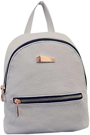PU Leather Backpack Bags,Hemlock Girls Travel Handbag School Rucksack Bag (Grey)